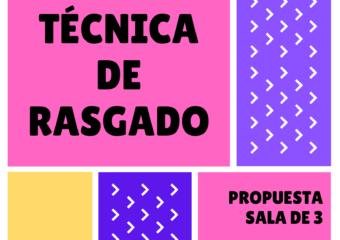 NIVEL INICIAL: TÉCNICA DE RASGADO, PROPUESTA PARA SALA DE 3