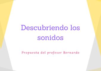 nivel inicial: Propuesta de educación musical, Profesor Bernardo