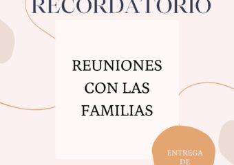 nivel inicial: Reuniones con las familias