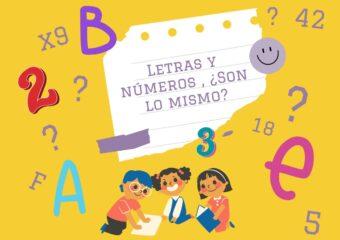 """Nivel Inicial: """"Letras y números, ¿son lo mismo?"""""""