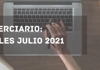 NIVEL TERCIARIO: ARANCELES JULIO 2021